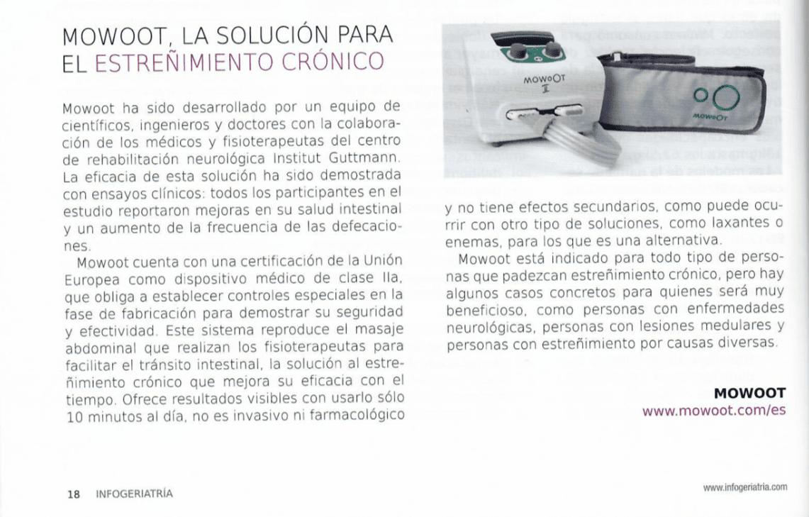 MOWOOT at InfoGeriatría magazine